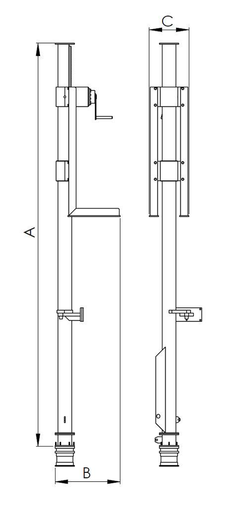 SP-Series Side Deployment Pole - DECK Marine Systems